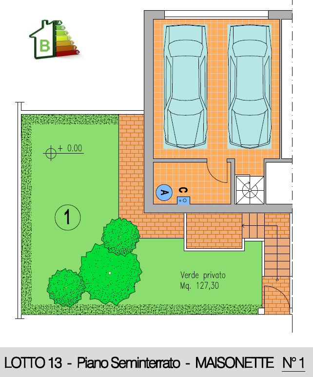 Maisonette 1 - Seminterrato doppio garage