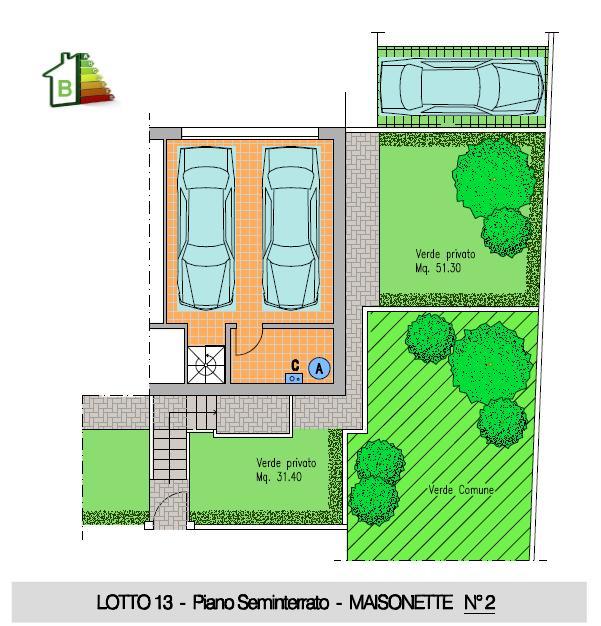 Maisonette n°2 - P.Seminterrato doppio garage